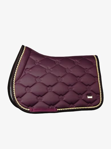 Monogram Jump saddle pad, Wine- PS of Sweden
