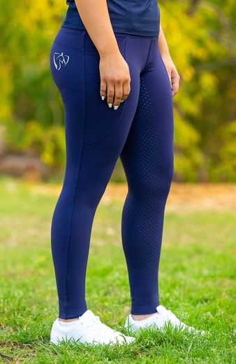 BARE ThermoFit Winter Performance Riding Tights - Navy