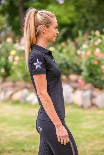 Sequin Polo shirt - BARE Equestrian